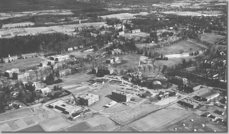 Aerial photograph of campus